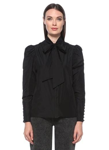 NetWork Kadın 1076422 Regular Fit Yakası Bağlamalı Gömlek Siyah